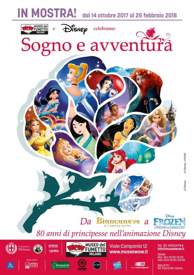 """Mostra sulle Principesse Disney: """"Sogno e Avventura: 80 anni di principesse nell'animazione Disney"""""""