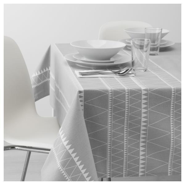 Tovaglia Ikea fantasia grigia e bianca VINTER 2017 (17,99 euro)