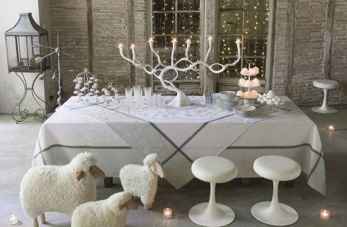 Tovaglie natalizie 2017: Zara Home, Maisons du Monde, Ikea, eleganti e bianche