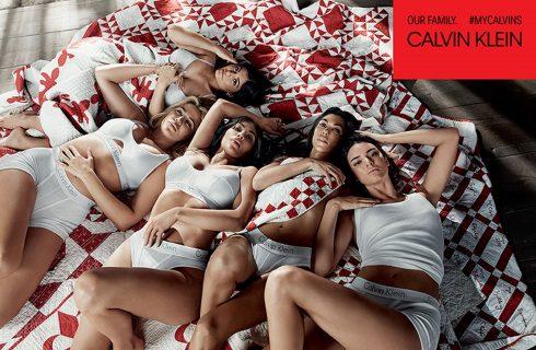 Le Kardashian-Jenner per Calvin Klein