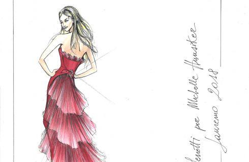 Festival di Sanremo 2018: l'abito di Alberta Ferretti per Michelle Hunziker