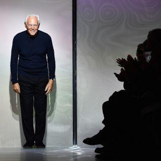 I vip in front row da Giorgio Armani