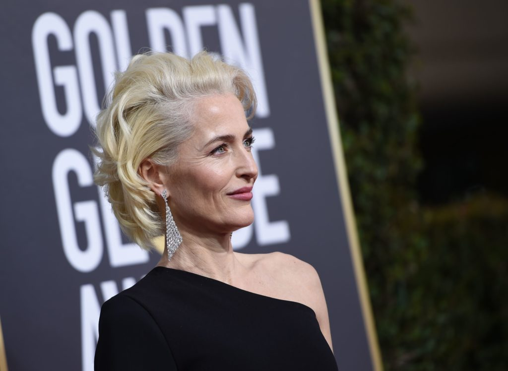Gillian Anderson sul red carpet dei Golden Globe 2018