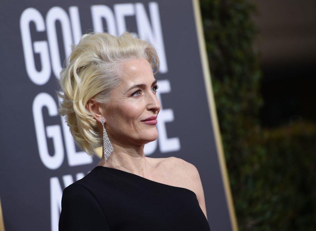 Gillian Anderson sul red carpet dei Golden Globe 2018