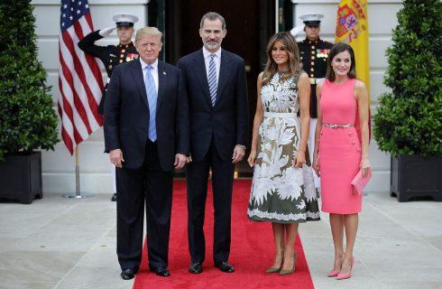Melania Trump incontra Letizia Ortiz alla Casa Bianca: look a confronto