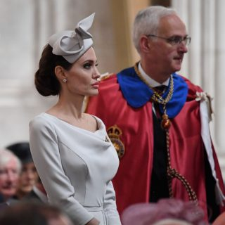 Angelina Jolie a Londra in Ralph & Russo