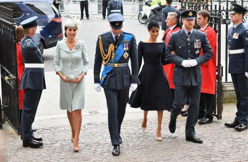 Kate Middleton e Meghan Markle: look a confronto al centenario della Raf