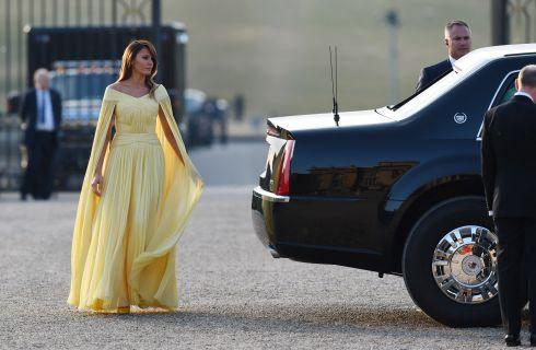 Melania Trump come una principessa Disney alla cena di stato al Blenheim Palace