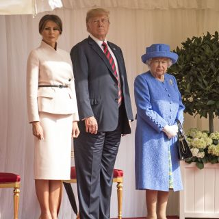 Melania Trump in Dior per incontrare Sua Maestà