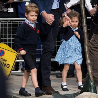 George e Charlotte: shopping per il rientro a scuola