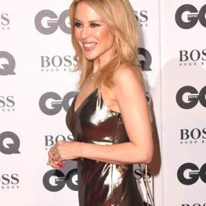 Kylie Minogue, red carpet con il fidanzato Paul Solomons