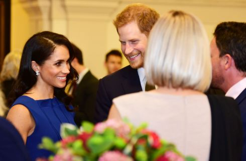 Meghan Markle: abito blu di Jason Wu al concerto 100 Days to Peace