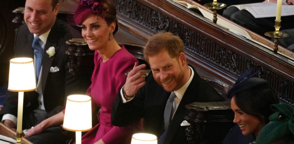 Il matrimonio della principessa Eugenie: Kate Middleton in Alexander McQueen e Meghan Markle in Givenchy, look a confronto