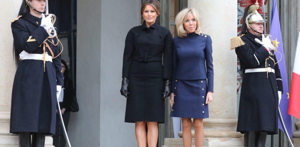 Melania Trump e Brigitte Macron: sfida di look tra first lady