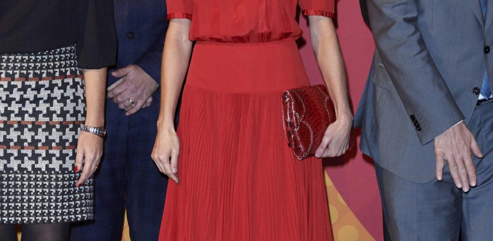 Letizia Ortiz indossa un abito vintage della Regina Sofia