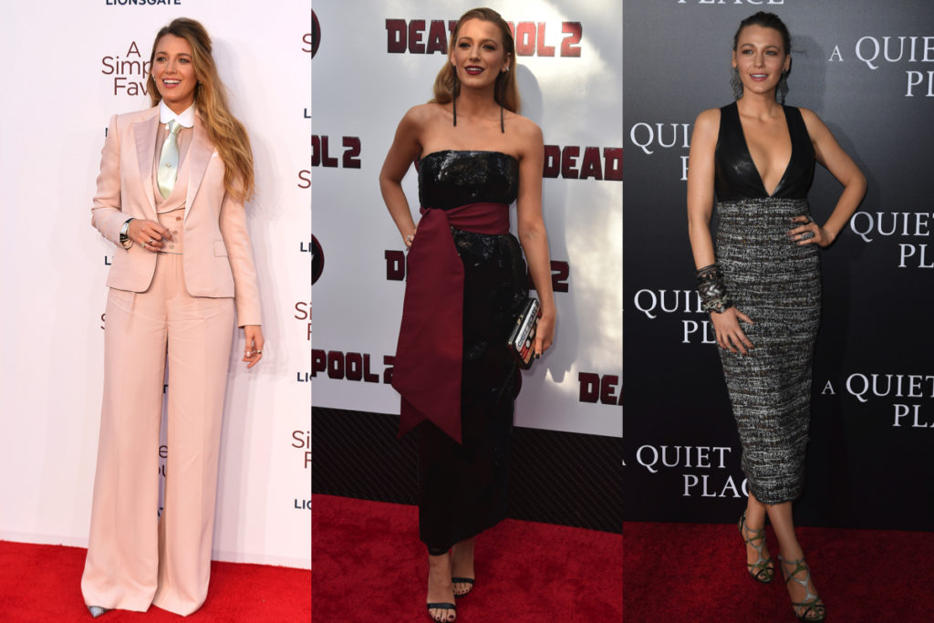 Blake Lively in tre outfit diversi