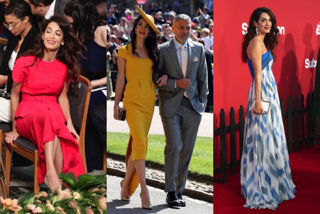 Amal Clooney in tre diverse occasioni pubbliche