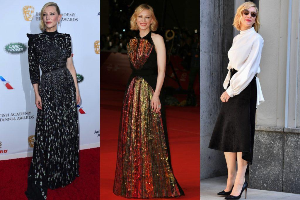 Cate Blanchett, elegantissima sul red carpet come alle sfilate di moda