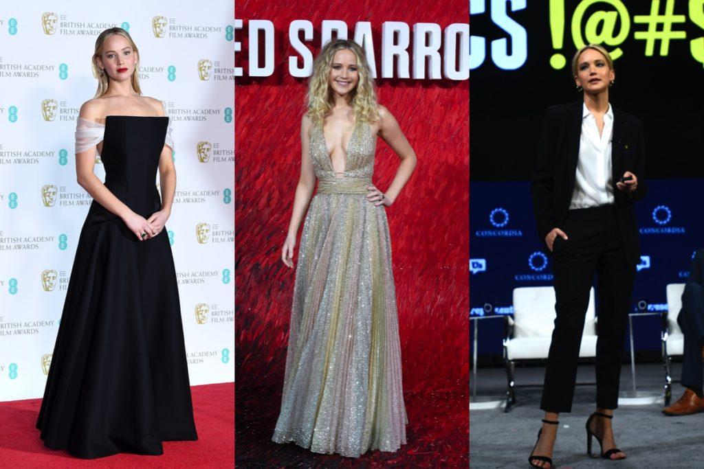 Tre immagini di Jennifer Lawrence