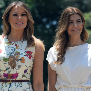 Melania Trump in Gucci per il summit del G20