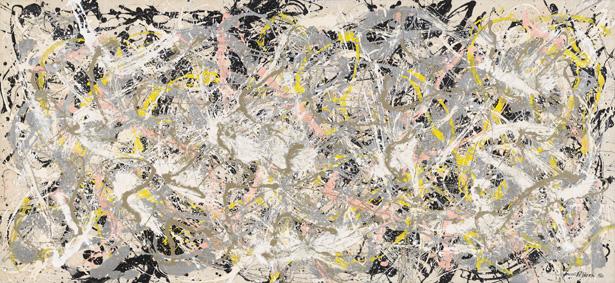 L'opera Number 27 di Jackson Pollock esposta al Complesso del Vittoriano