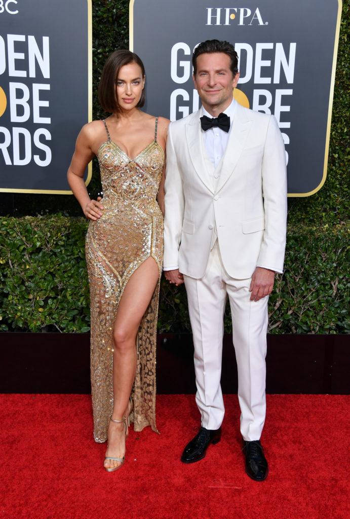 Irina Shayk e Bradley Cooper sul red carpet dei Golden Globe 2019
