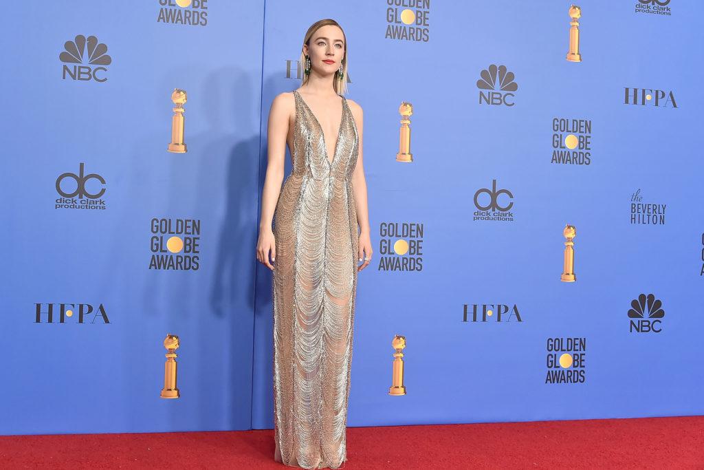 Saoirse Ronan in abito di Gucci