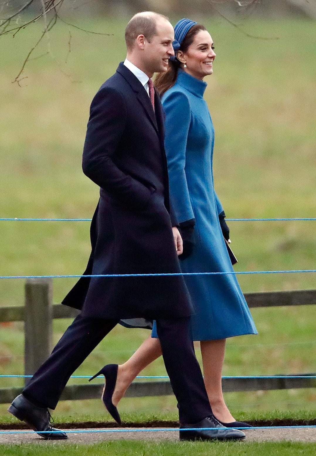 Kate Middleton indossa un cappotto portato durante la scorsa gravidanza.