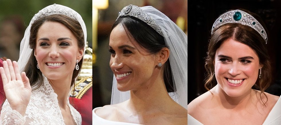 Kate, Meghan ed Eugenie: chi ha indossato la tiara più costosa al matrimonio?