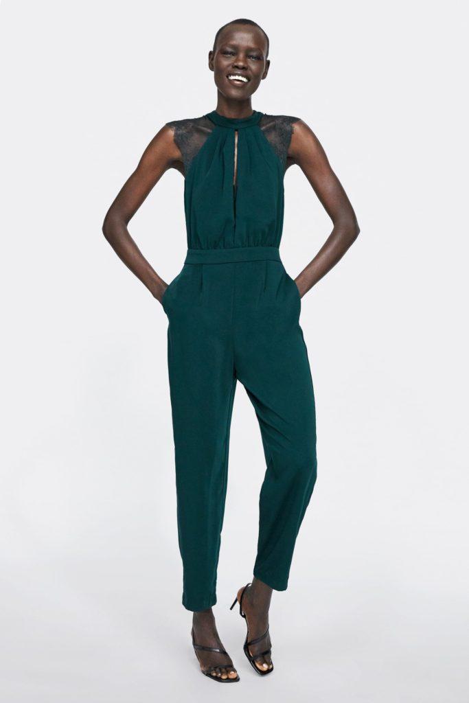 Tuta verde smeraldo di Zara