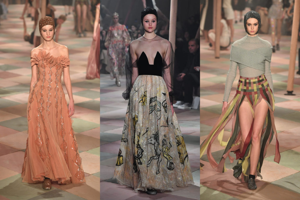 Tre look della Dior Dream Parade