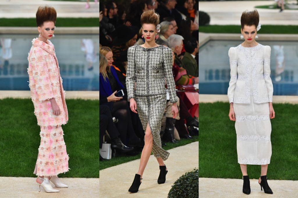 tre look della collezione Chanel