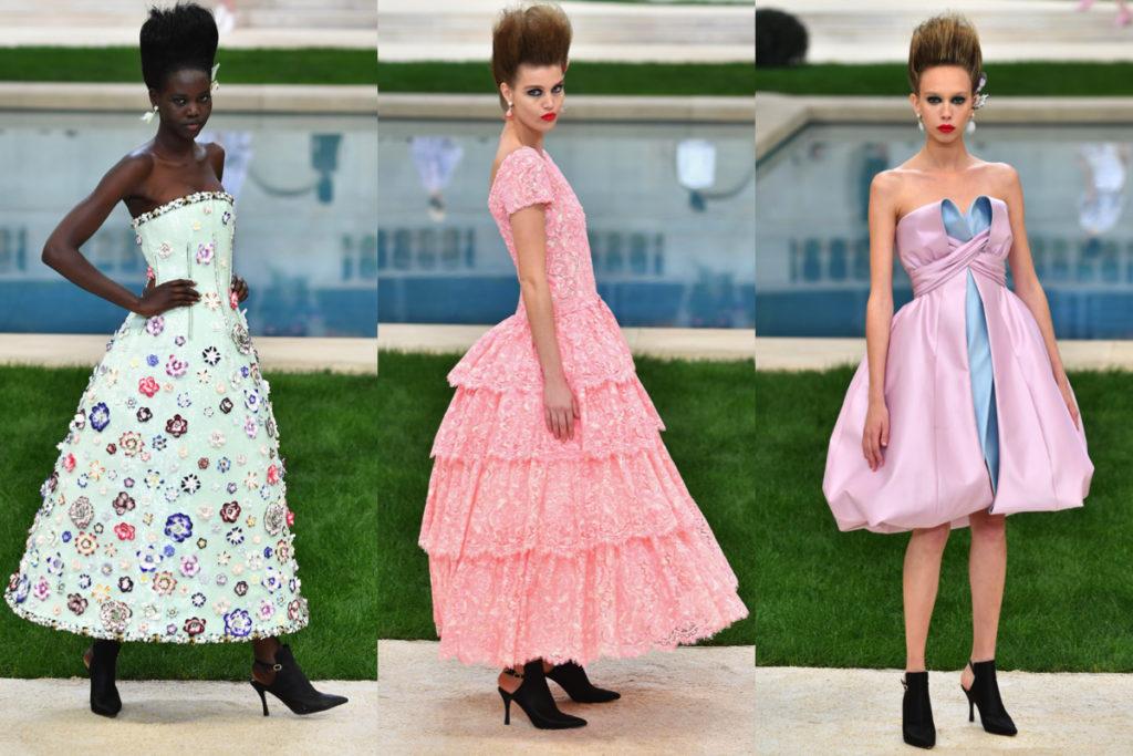 Tre look della collezione Haute couture Chanel