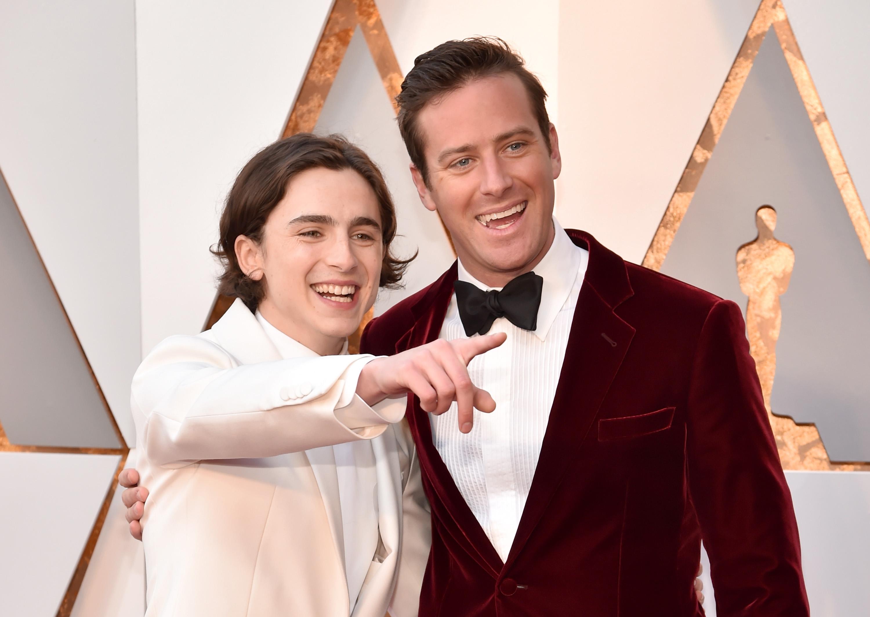 Chalamet e Hammer sul red carpet degli Oscar 2018