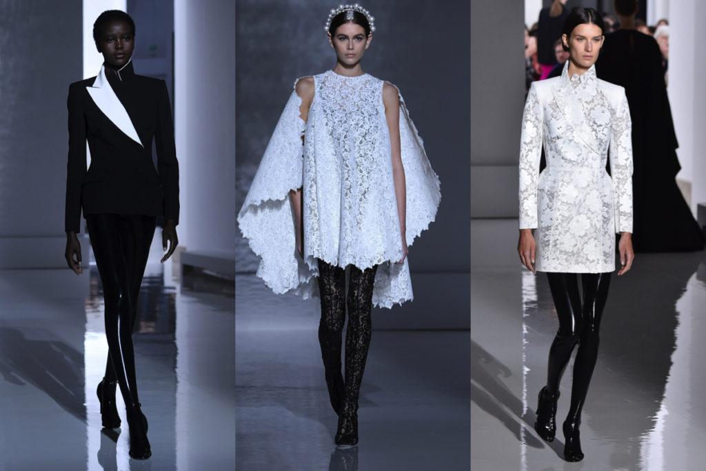 Leggins neri alla sfilata Givenchy