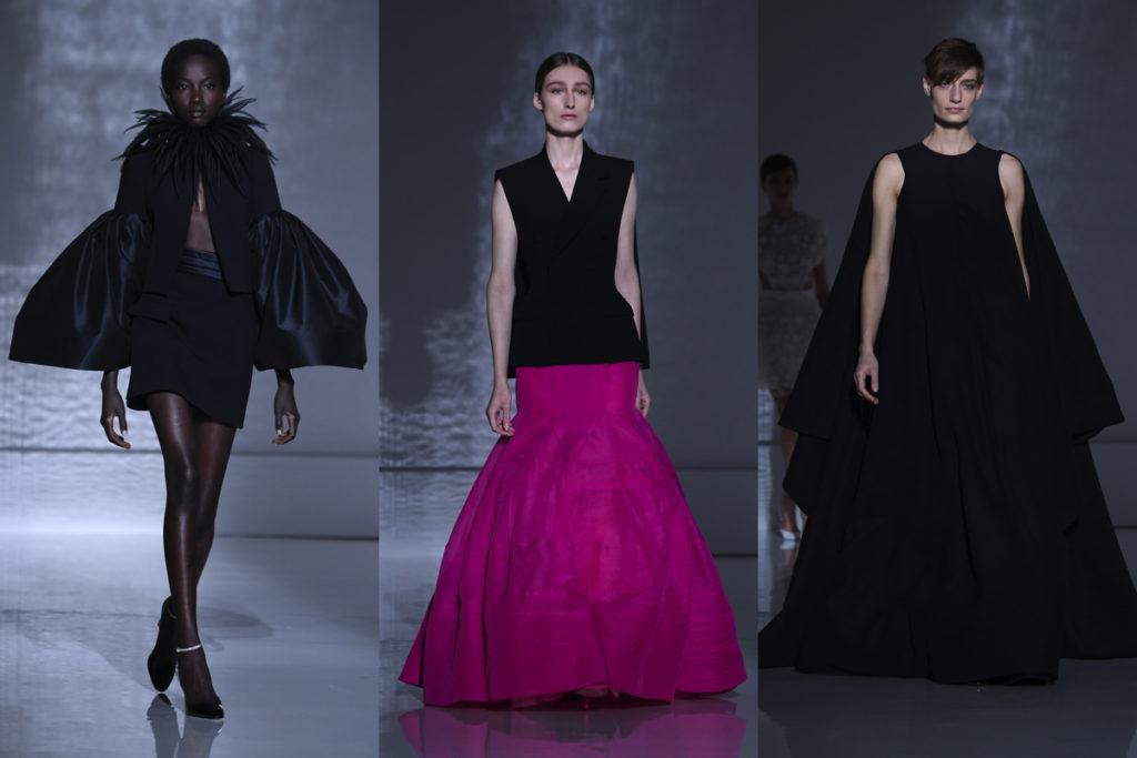 Tre uscite della sfilata Givenchy