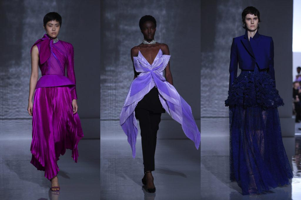 Tre outfit della Givenchy Haute Couture Primavera-Estate 2019