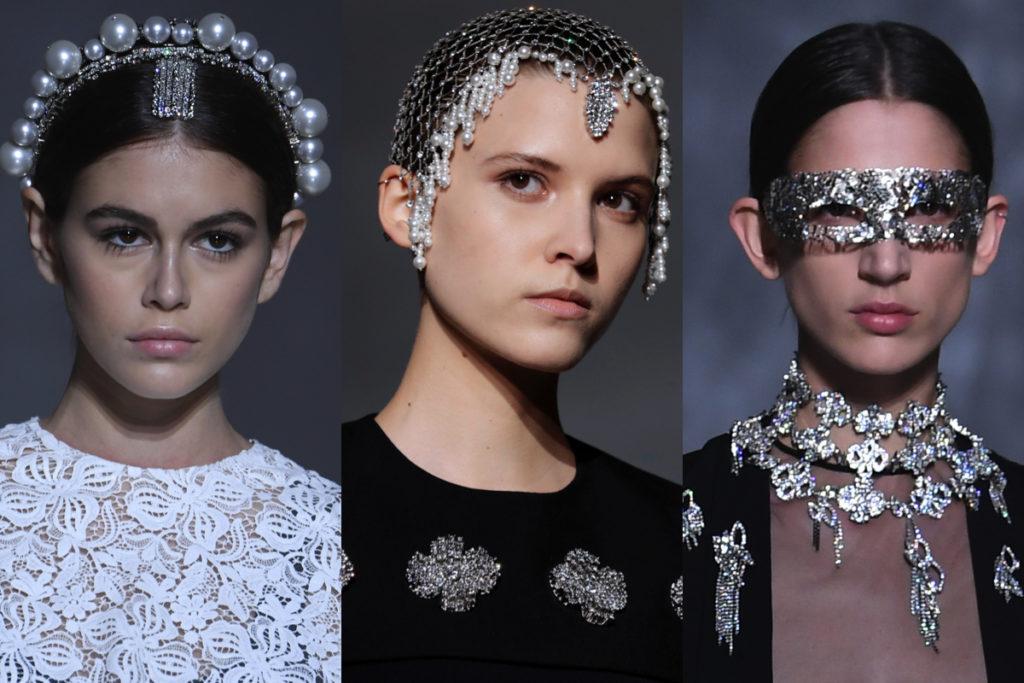 Alcuni degli accessori della Givenchy Couture