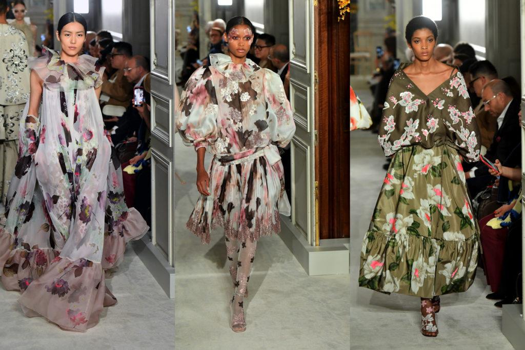 Tre abiti della Valentino Haute Couture