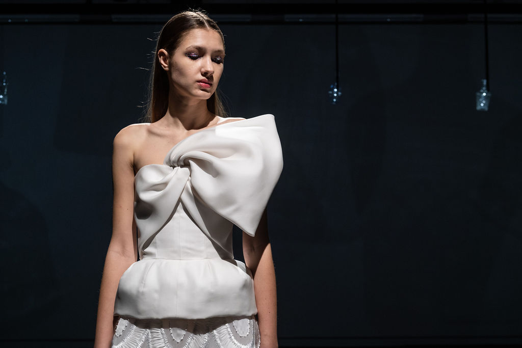 Dettaglio di uno degli abiti della collezione Hauet Couture di Sylvio Giardina