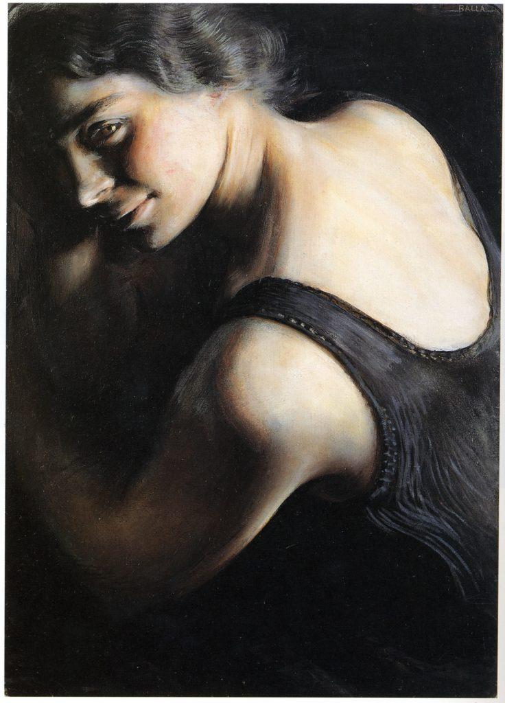 Opera di Balla esposta alla Galleria d'Arte Moderna di Roma