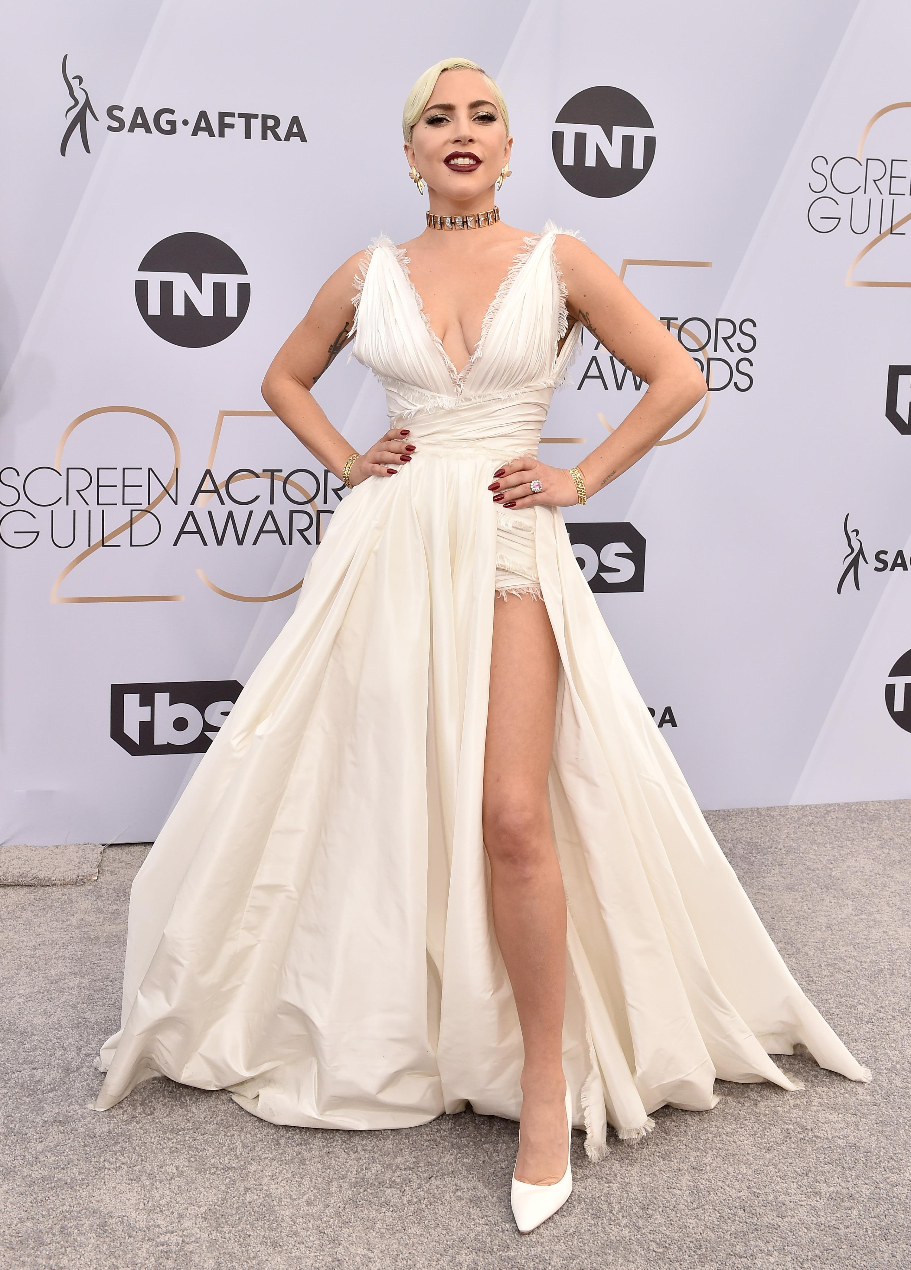Lady Gaga in Dior ai Sag Awards 2019