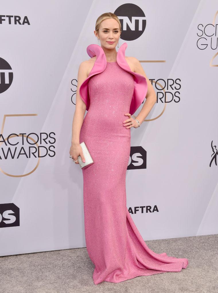 Emily Blunt in Michael Kors ai Sag Awards 2019