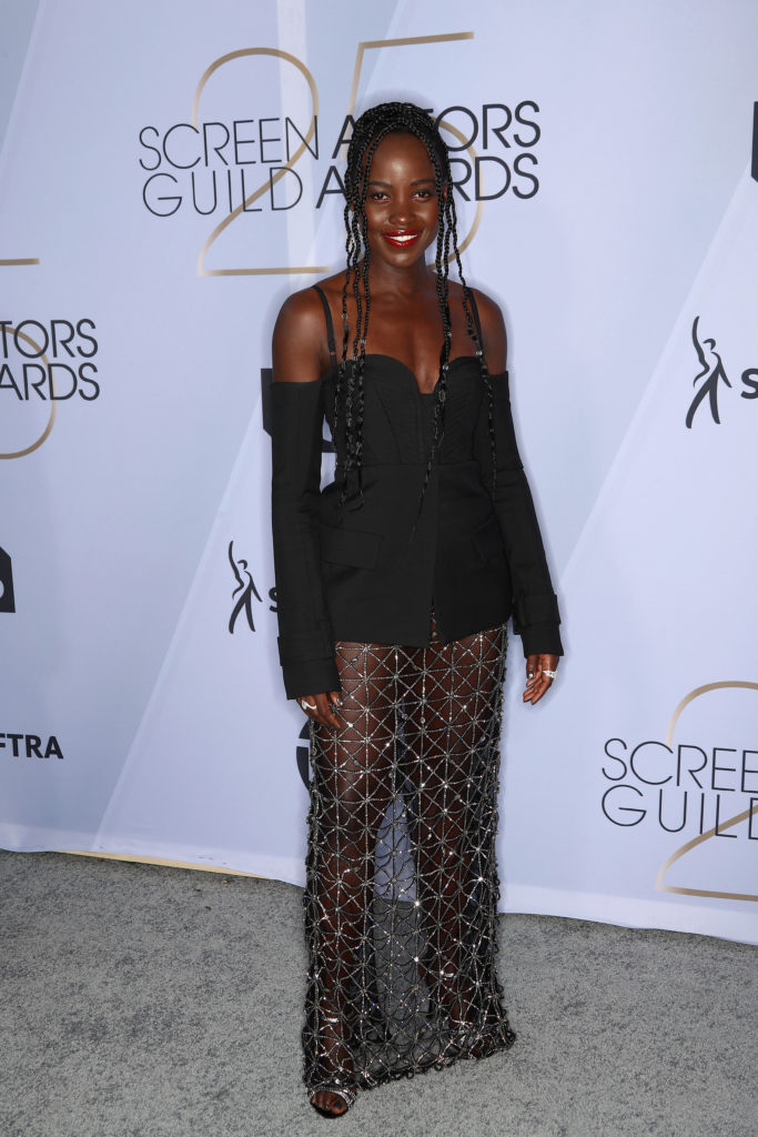 Lupita Nyong'o in Vera Wang ai Sag Awards 2019