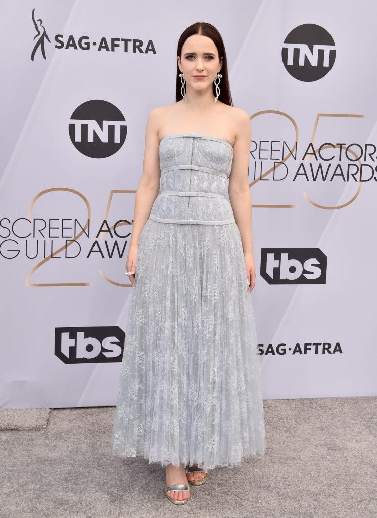 Rachel Brosnahan in Dior ai Sag Awards 2019