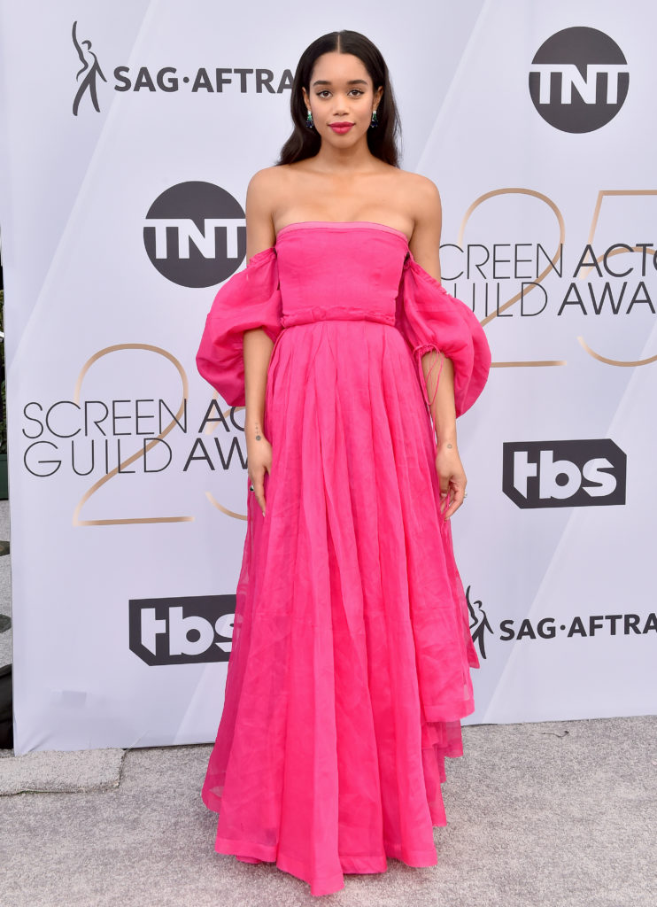 Laura Harrier in Lowe ai Sag Awards 2019