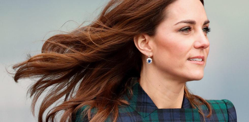 Kate Middleton con gli orecchini di Lady Diana