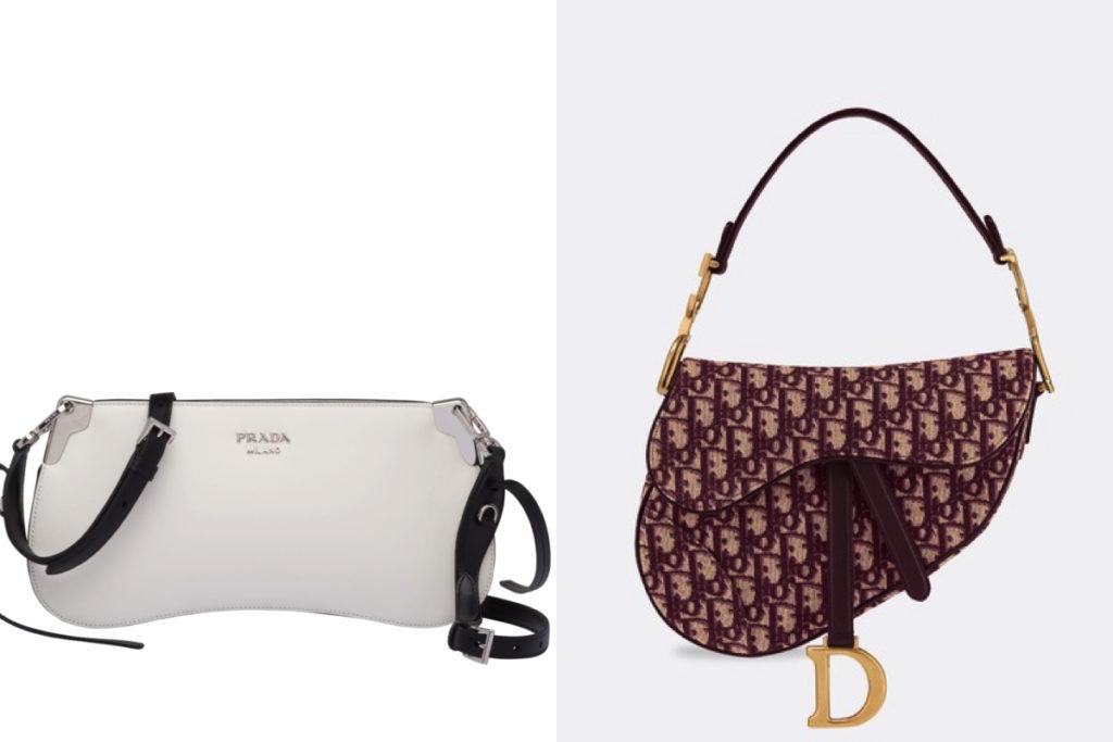 Due modelli di borse a tracolla della Primavera-Estate 2019