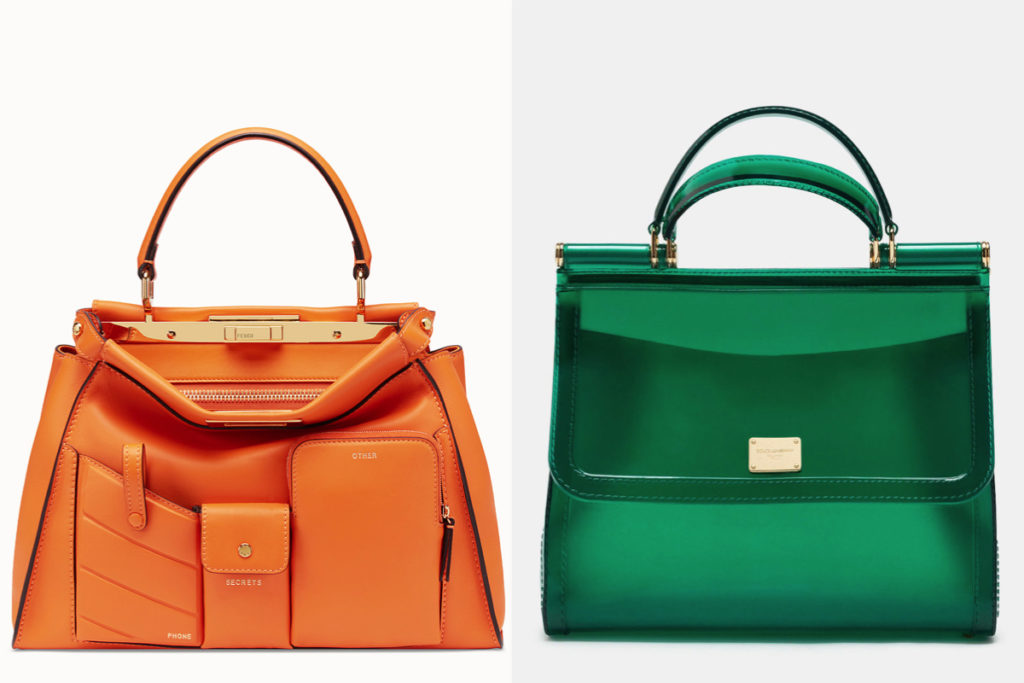 Due modelli di borse a mano della Primavera-Estate 2019