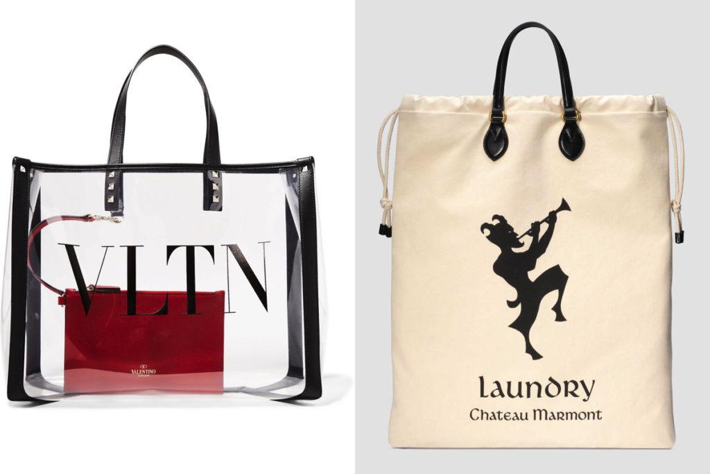 Due modelli di borse shopper della Primavera-Estate 2019